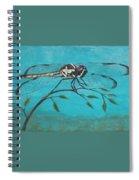 Praying Dragonfly Spiral Notebook