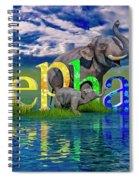 Precious E Is For Elephant Spiral Notebook