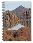 Prescott Arizona Watson Lake Hill Rcoks Water Sky Clouds 3 122019 4865 Spiral Notebook