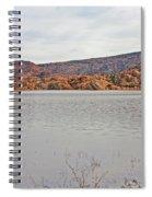 Prescott Arizona Watson Lake Hills Mountains Rocks Water Grasses Cloudy Sky 3142019 4920 Spiral Notebook