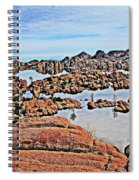 Prescott Arizona Watson Lake Rocks, Hills Water Sky Clouds 3122019 4870 Spiral Notebook
