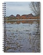 Prescott Arizona Watson Lake Sky Clouds Hills Rocks Trees Grasses Water 3142019 4920 Spiral Notebook
