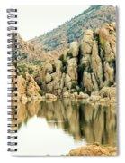 Prescott Arizona Watson Lake Water Mountains Lake Rocks Sky Reflections 4831 Spiral Notebook