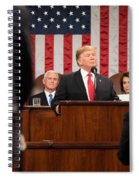 President Donald J. Trump Delivers His State Of The Union Address At The U.s. Capitol 2 Spiral Notebook