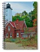 Presque Isle Lighthouse Spiral Notebook