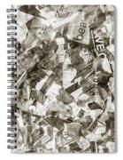 Press Print Parchment Spiral Notebook