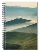 Pretty Morning In Toscany Spiral Notebook