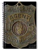 Prohibition Agent Badge Spiral Notebook