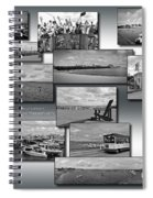 Provincetown Cape Cod Massachusetts Collage Bw 02 Spiral Notebook