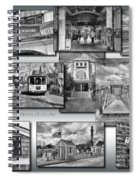 Provincetown Cape Cod Massachusetts Collage Pa Bw Spiral Notebook