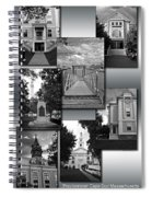 Provincetown Town Hall Cape Cod Massachusetts Collage Bw Vertical Spiral Notebook