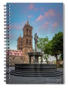 Puebla Zocalo And Cathedral Spiral Notebook