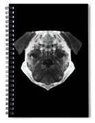 Pug's Face Spiral Notebook