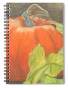 Pumpkin In Patch Spiral Notebook