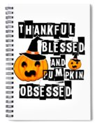 Pumpkin Obsessed Halloween Jackolantern Witch Hat Light Spiral Notebook