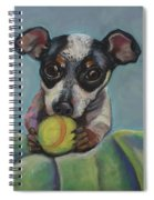 Puppy With Tennis Ball Spiral Notebook
