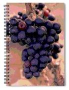 Purple Grape Bunches 18 Spiral Notebook