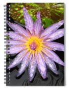 Purple Lotus Water Lily Spiral Notebook