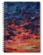 Purple Sun Spiral Notebook