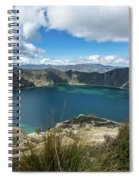 Quilotoa Crater Lake Spiral Notebook