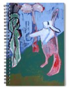 Rabbit By A Tree Spiral Notebook