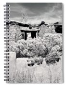 Rabbitbrush And Adobe Ruins In Sepia Spiral Notebook