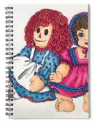 Raggedy Ann And Friend  Spiral Notebook