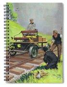 Railway Automobile Spiral Notebook