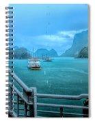 Rain Aboard Au Co Cruise Ha Long Bay  Spiral Notebook