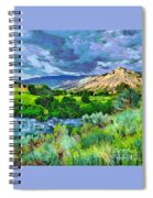 Rain Clouds On The Way To Sweetwater Spiral Notebook