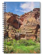 Rain Waterfall Off The Standstone Spiral Notebook