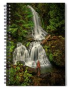 Rainier Falls Creek Falls Spiral Notebook