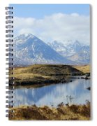 Rannoch Moor In Winter Spiral Notebook