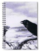 Ravens In Winter Spiral Notebook