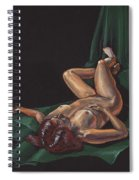 Reclining Nude Model Foreshortening Study Spiral Notebook