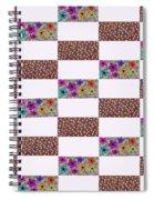 Rectangular Patchwork Spiral Notebook