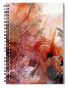 Red Abstract Art - The Vineyard - Sharon Cummings  Spiral Notebook