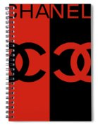 Red And Black Chanel Spiral Notebook