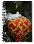 Red And Gold Ornament Spiral Notebook