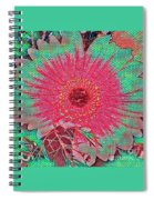 Red And Green Bloom Spiral Notebook