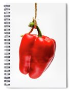 Red Bell Pepper On A White Background Spiral Notebook