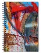 Red Blue Graffiti Abstract Square 2 Spiral Notebook