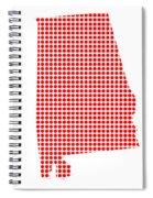 Red Dot Map Of Alabama Spiral Notebook