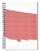 Red Dot Map Of Arizona Spiral Notebook