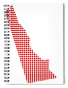 Red Dot Map Of Delaware Spiral Notebook