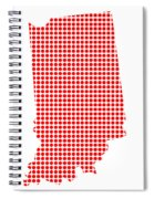 Red Dot Map Of Indiana Spiral Notebook