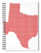 Red Dot Map Of Texas Spiral Notebook