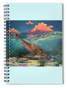 Red Fish Hunt Spiral Notebook