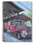 Red Ford And Pink Flowers Spiral Notebook