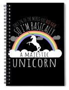 Red Hair Majestic Unicorn Funny Redhead Spiral Notebook